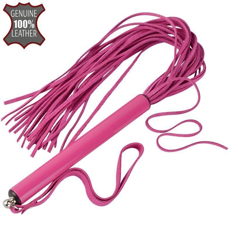 Розовая многохвостая плеть MIX - 47 см.