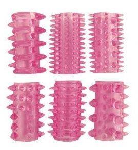 Набор из 6 розовых насадок на пенис (5,5 см)