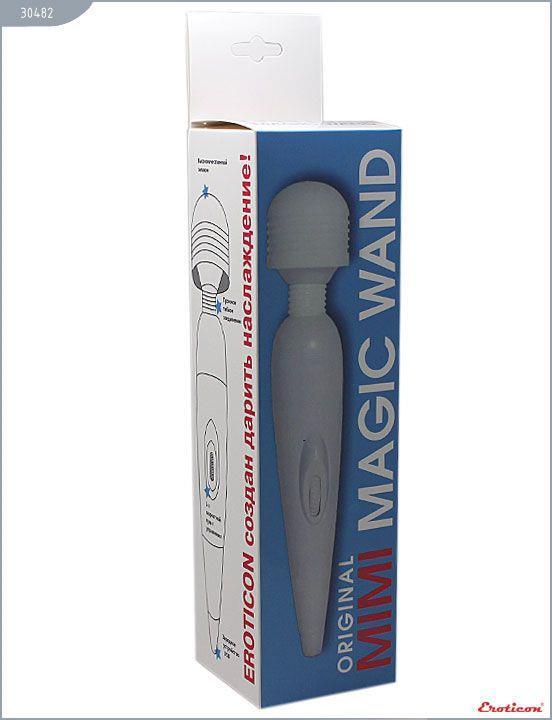 Белый вибромассажёр Mimi Magic Wand - 19,2 см.