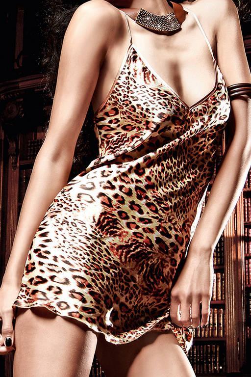 Роскошное мини-платье с леопардовым рисунком Beauty Inside The Beast