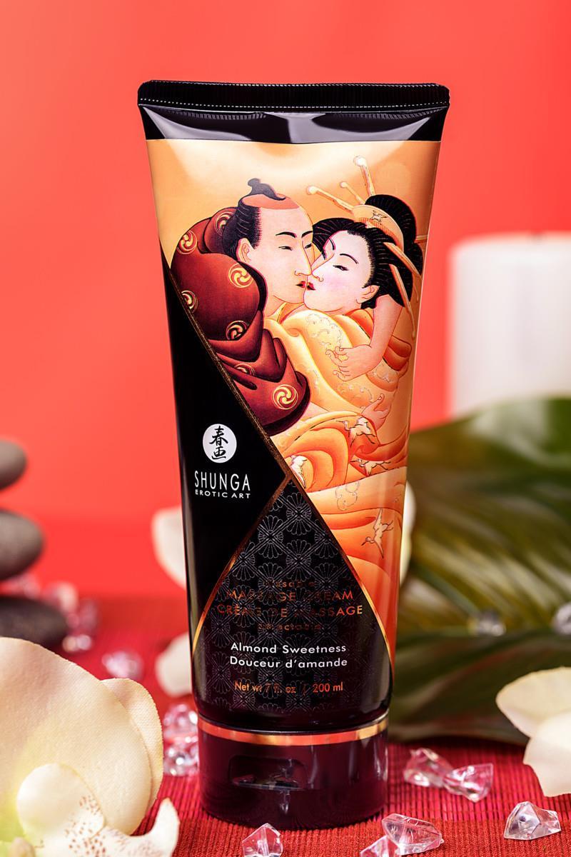 Массажный крем для тела Shunga Almond Sweetness с ароматом миндаля (200 мл)