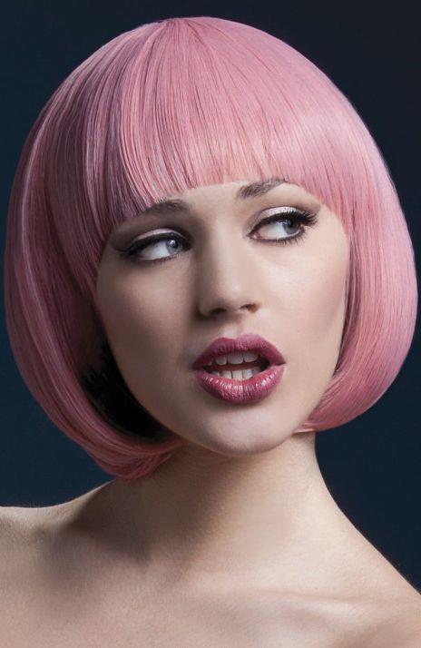 Розовый парик-каре Mia
