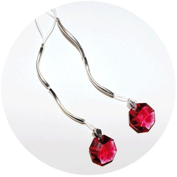 Украшение для груди с красными кристаллами Swarovski