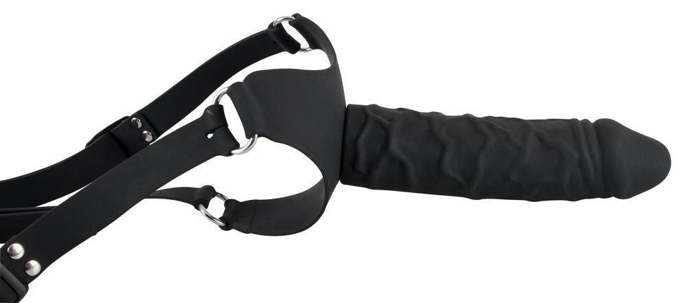Силиконовый страпон на регулируемых ремешках Silicone Strap-On - 17 см.