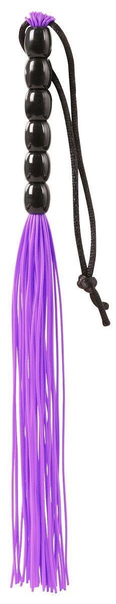 Фиолетовая мини-плеть из резины Rubber Mini Whip (22 см)