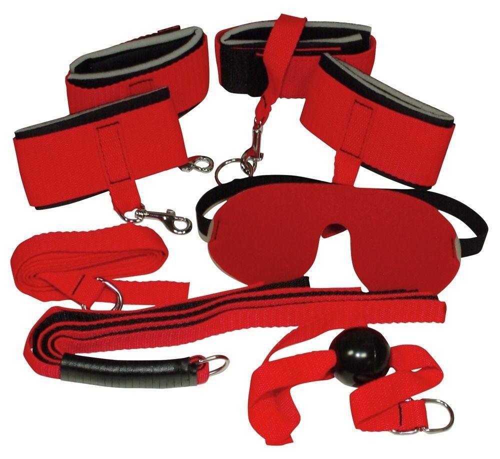 Ярко-красный набор «Bad Kitty Bondage Set» для страстных игр