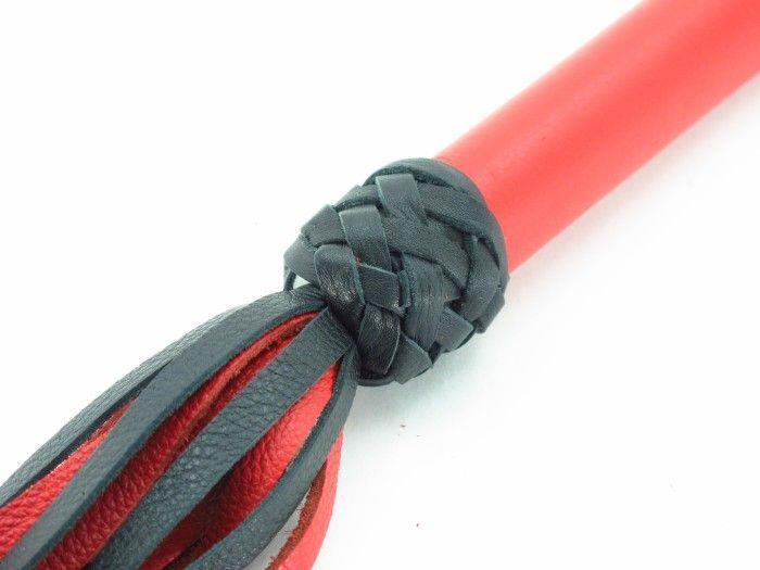 Черно-красная плеть с красной ручкой Турецкие головы - 57 см.