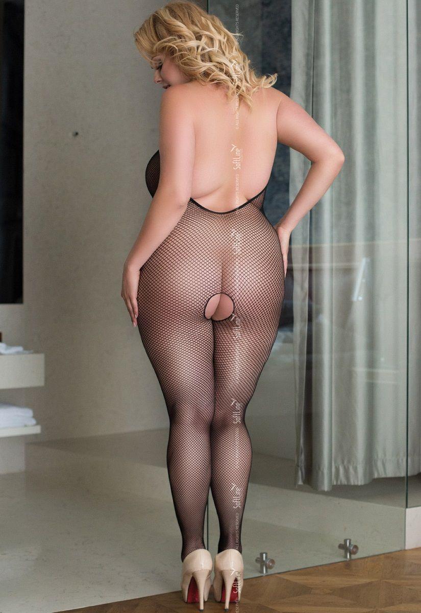 Костюм-сетка Ligia с открытой спиной