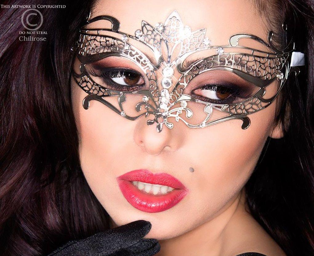Фигурная серебристая маска Mysterious Mask