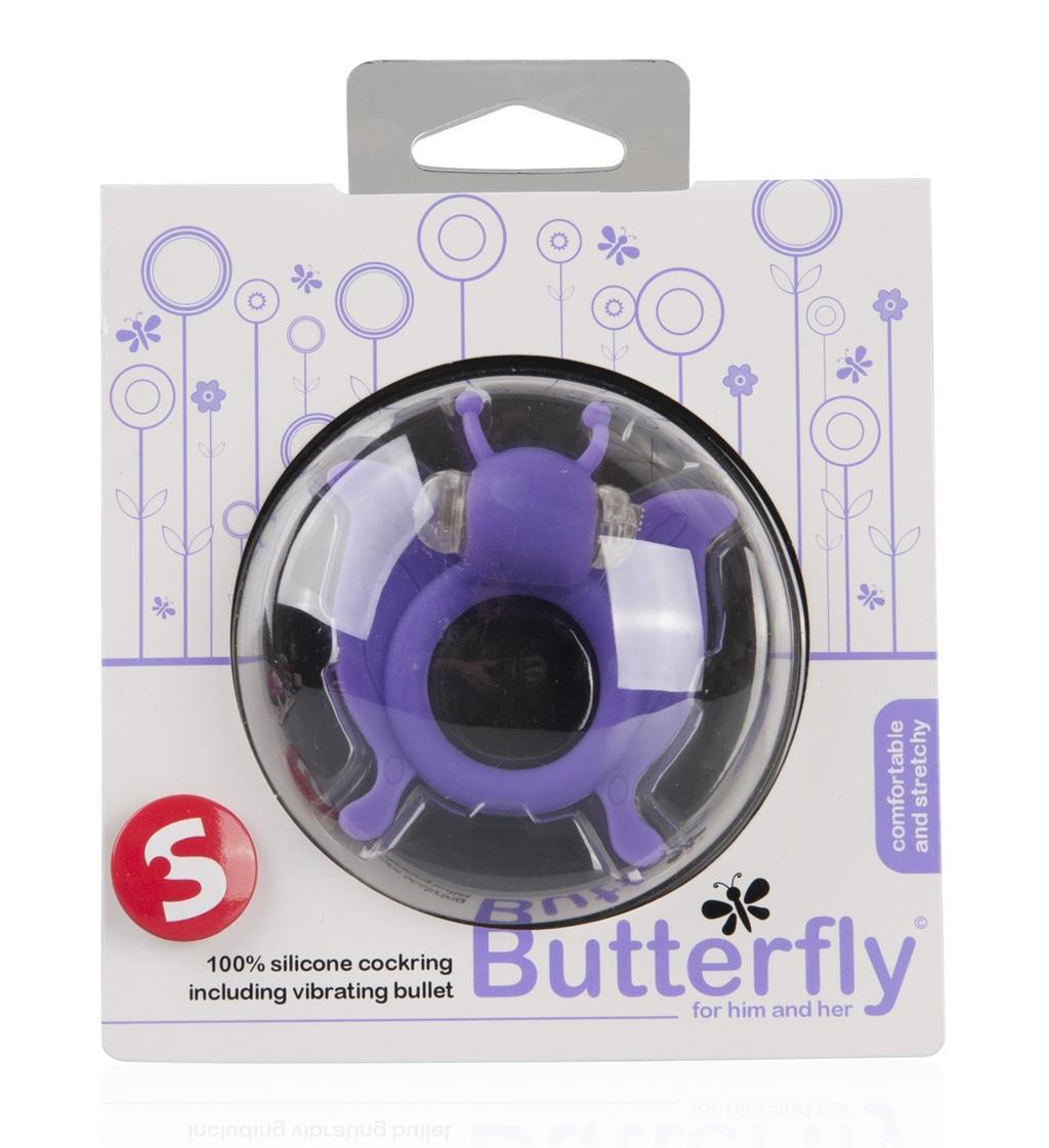 Фиолетовая вибронасадка Butterfly в форме бабочки