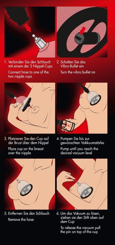 Вакуумная помпа для сосков с вибрацией Bad Kitty Vibrating Nipple Cups
