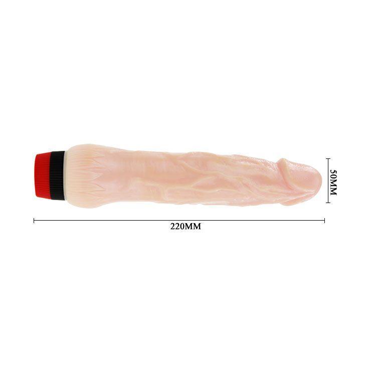 Вибратор с выступающей головкой Rockin Dong - 21,5 см.