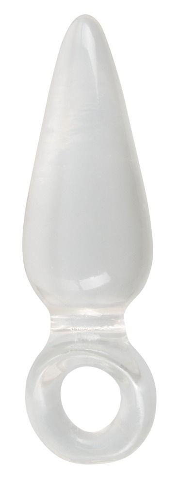 Анальная втулка с колечком на пальчик Finger Plug - 9,5 см