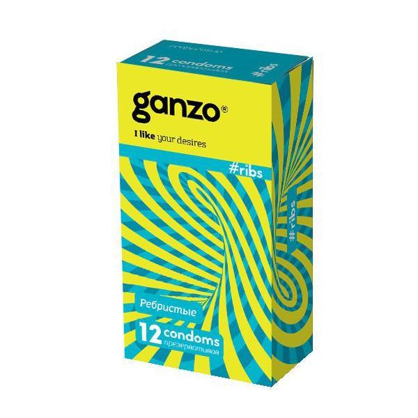 Презервативы с ребристой структурой Ganzo Ribs (12 шт)