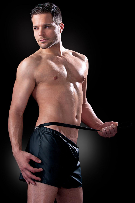 Просторные боксеры из нейлона с поводком Obedience Boxer S-M