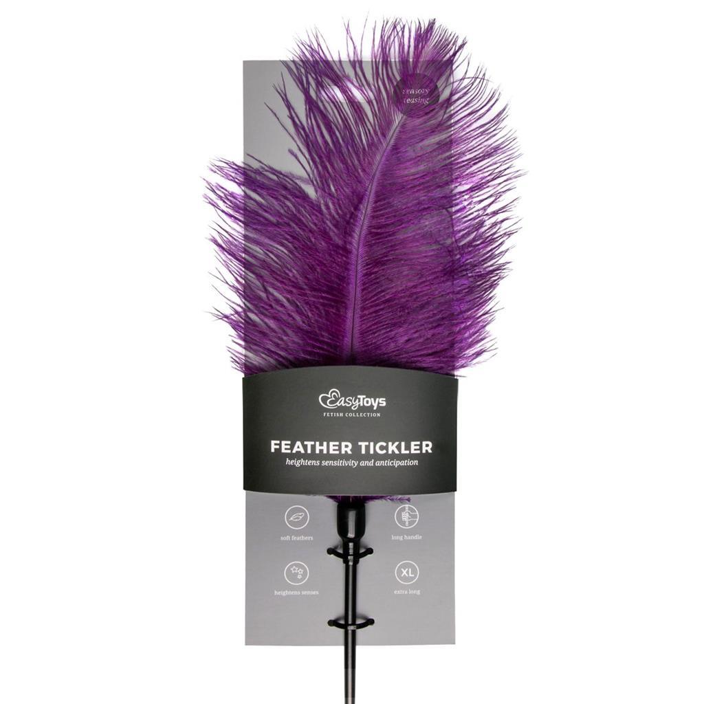 Тиклер с фиолетовыми перышками Feather Tickler - 54 см.