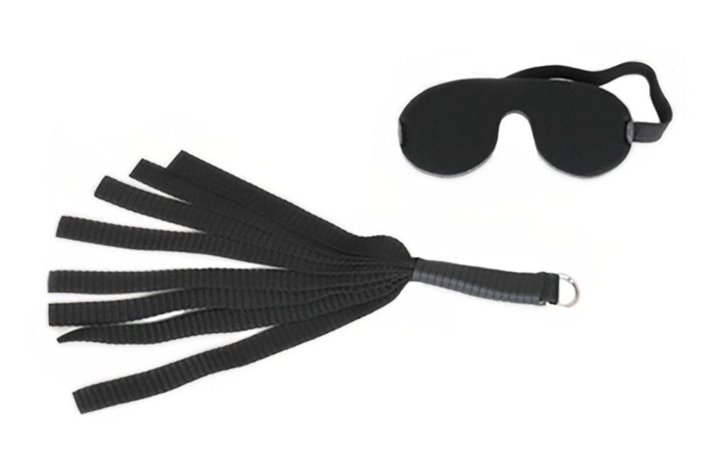 Черные секс-качели из широких ремней