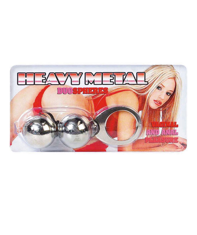 Металлические анальные шарики большого диаметра «Heavy Metal Duo Spheres»