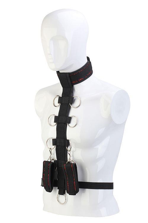Черный шейный воротник и манжеты на запястья COLLAR BODY RESTRAINT