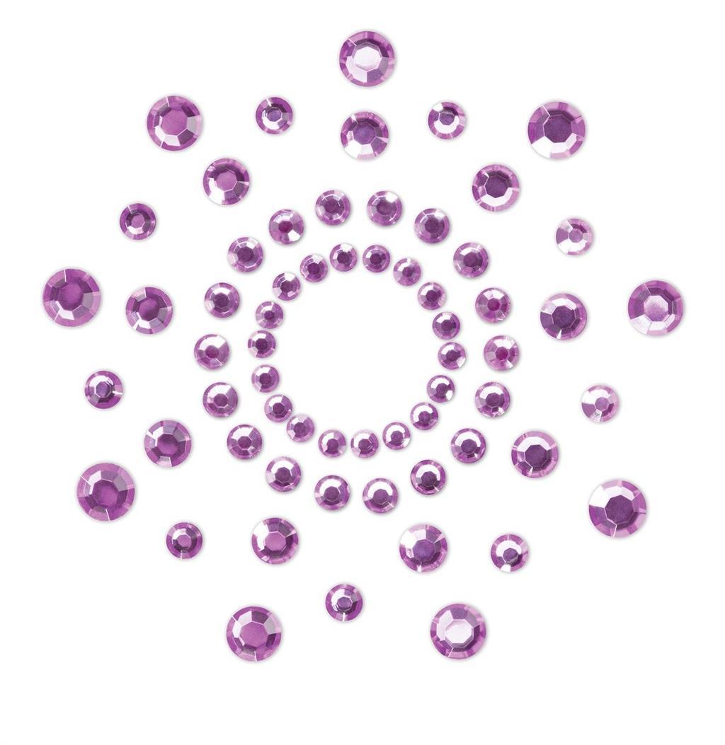 Фиолетовые наклейки на грудь Mimi