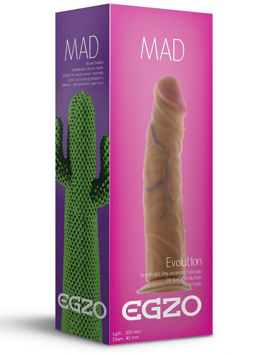 Реалистичный фаллоимитатор Mad Cactus без мошонки (20,5 см)