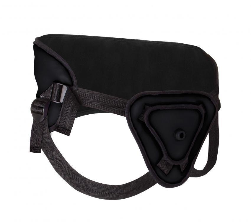 Чёрный страпон Deluxe Silicone Strap On 8 Inch - 20,5 см.