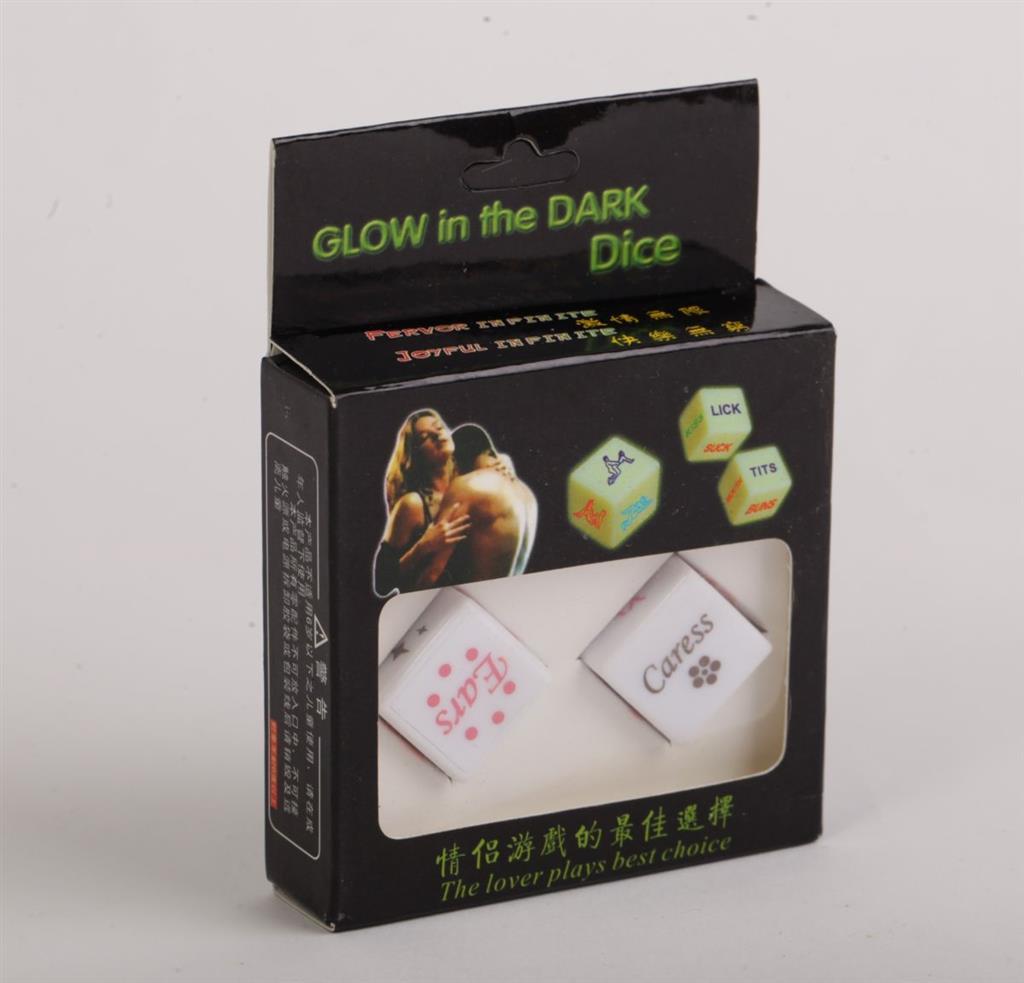 Светящиеся в темноте игровые кости для любовных игр