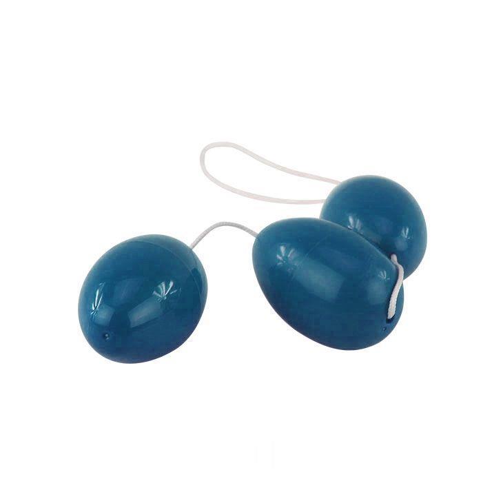 Голубые анальные шарики на связке