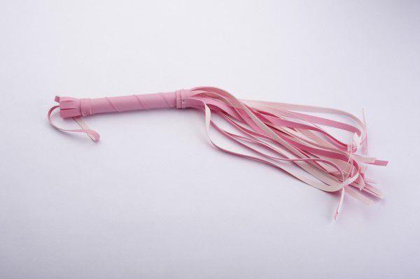 Розовая мини-плеть - 40 см.