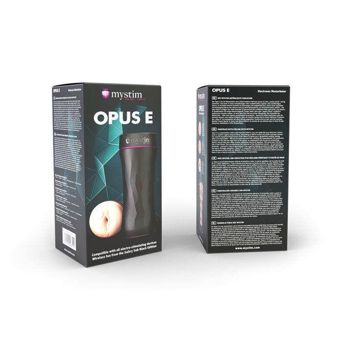 Мастурбатор-вагина в тубе OPUS E Vaginal Version с возможностью подключения электростимуляции
