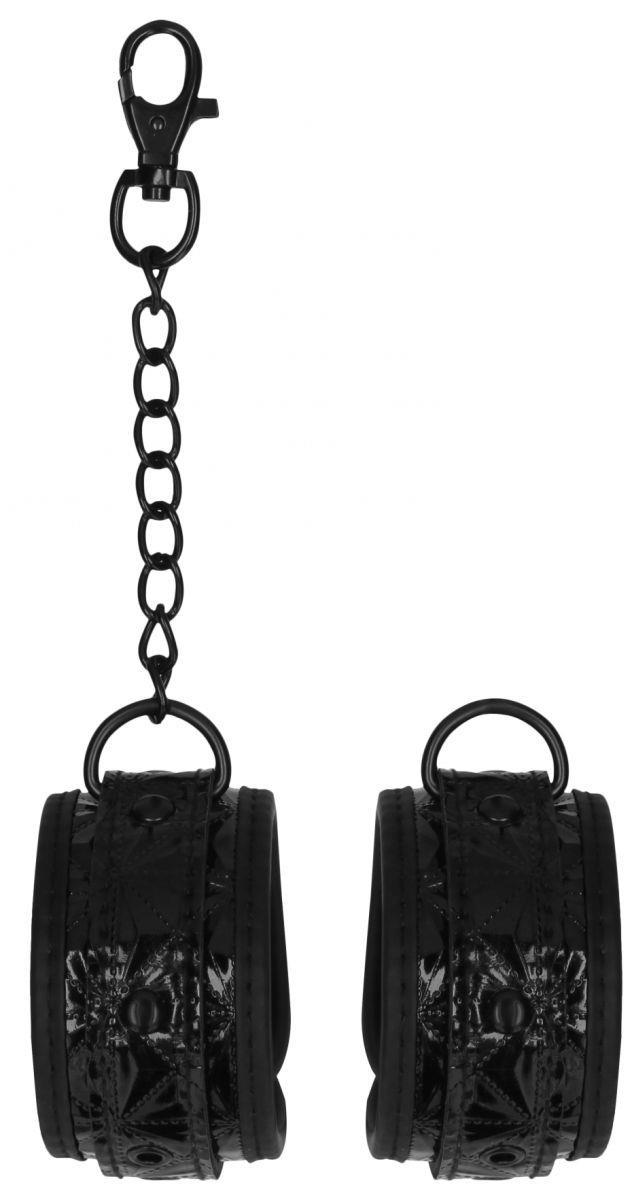 Черные поножи Luxury Ankle Cuffs