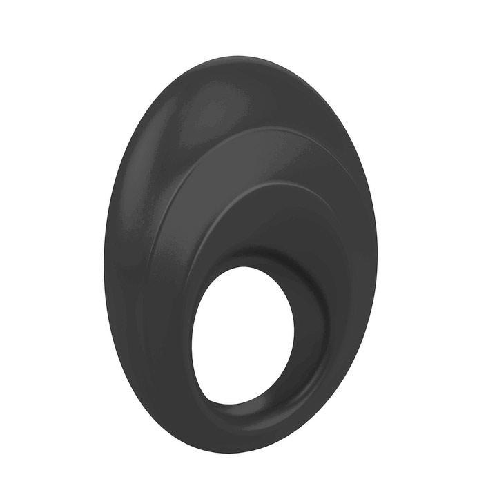 Черное эрекционное кольцо с вибрацией OVO B5
