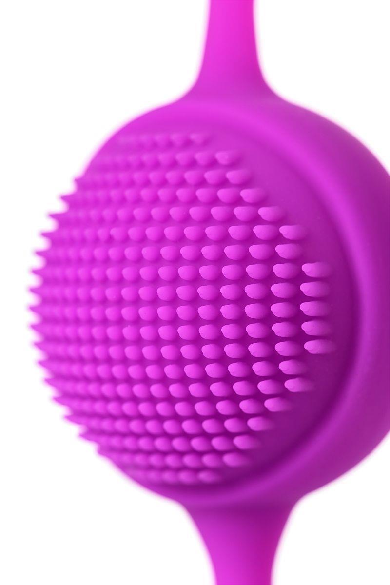 Фиолетовые вагинальные шарики JOS NUBY с ресничками
