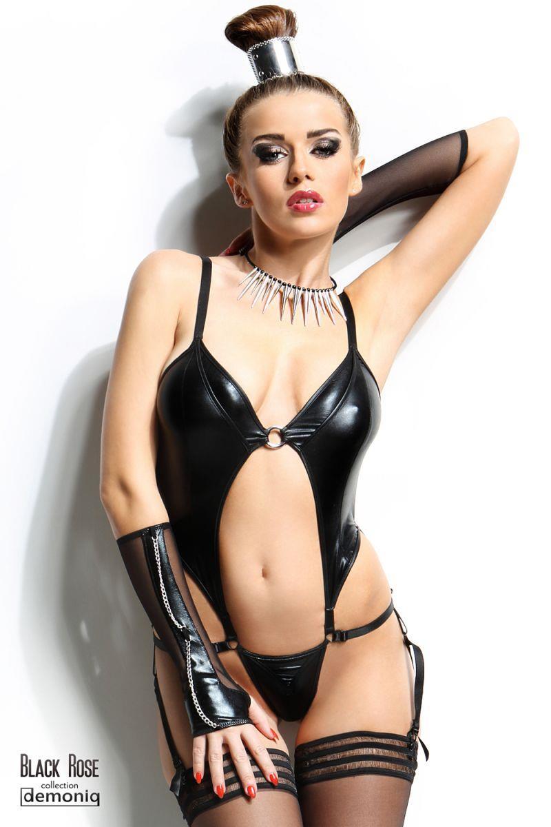 Сексуальное боди Nadine с открытым животиком