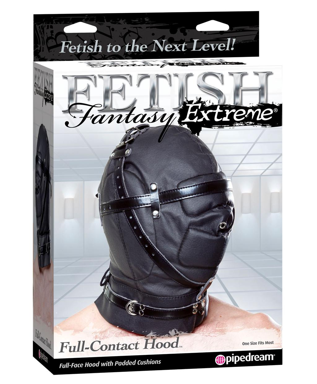 Кожаный шлем «Fetish Fantasy Extreme Full-Contact Hood»