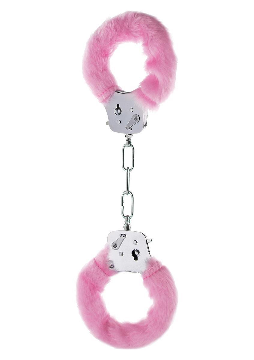 Розовые меховые наручники