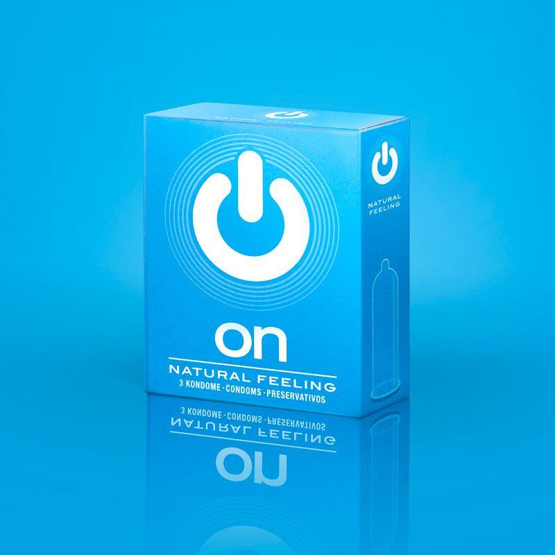 Классические презервативы ON) Natural Feeling (3 шт)