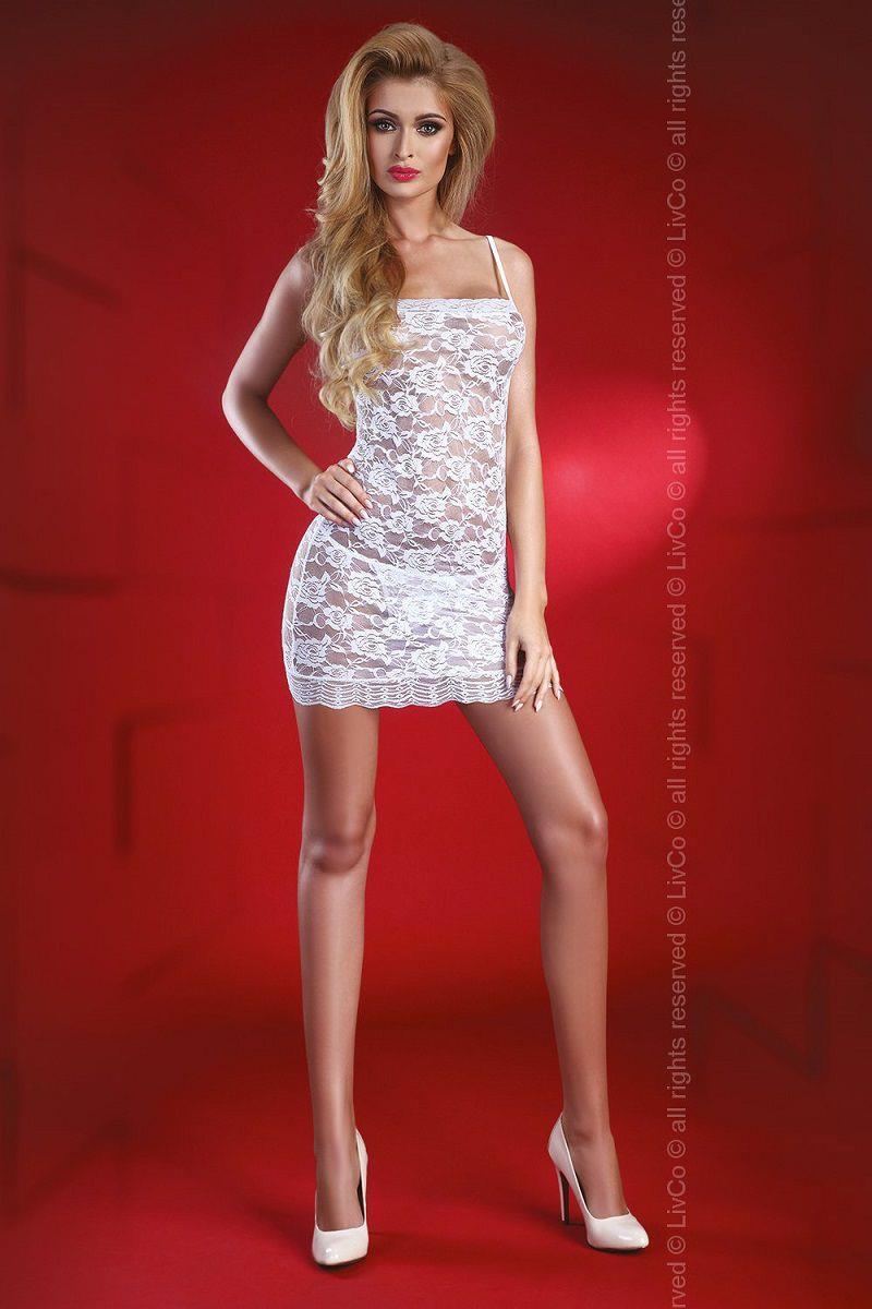 Ажурное мини-платье Latisha с цветочным узором