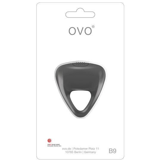 Эрекционное кольцо серое «OVO B9»