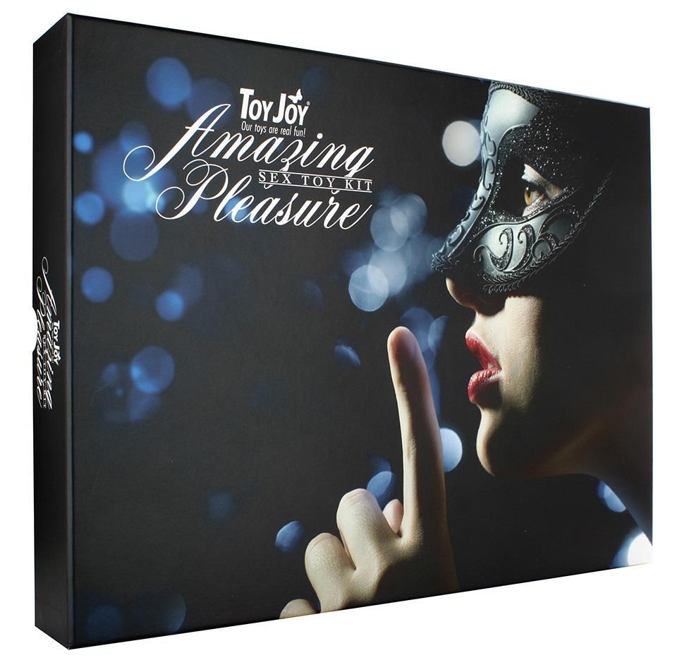 Набор чёрных вибраторов «AMAZING PLEASURE SEX TOY KIT» (10 предметов)