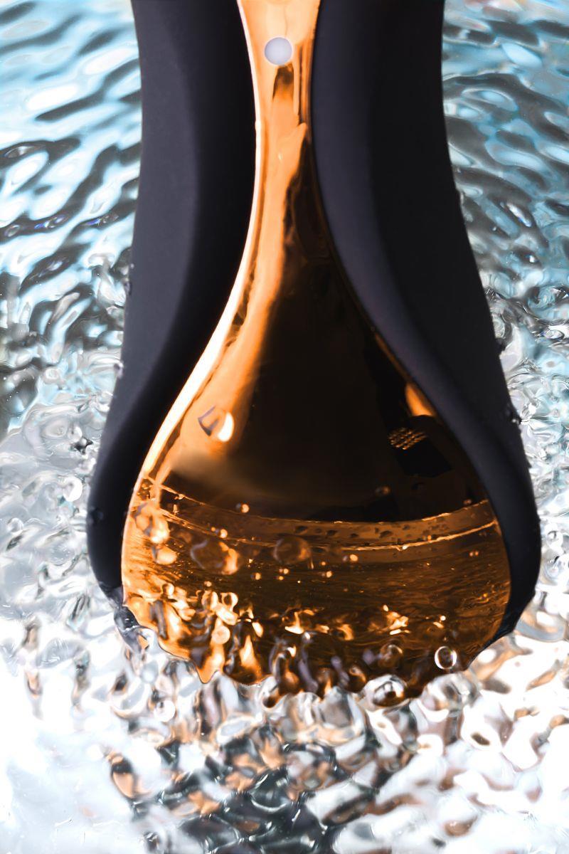 Чёрно-золотой клиторальный вибромассажер WANAME - Surf