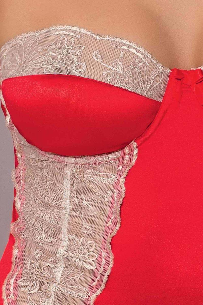 Облегающая сорочка Loraine с нежным кружевом и разрезами