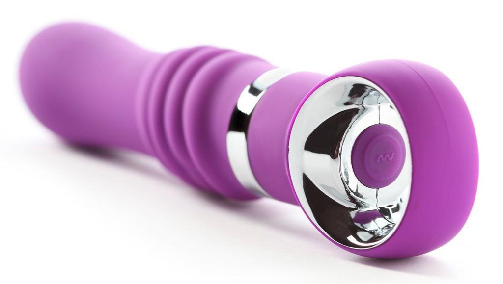 Фиолетовый силиконовый вибромассажёр CHRISTIANE SOUL - 17,8 см.