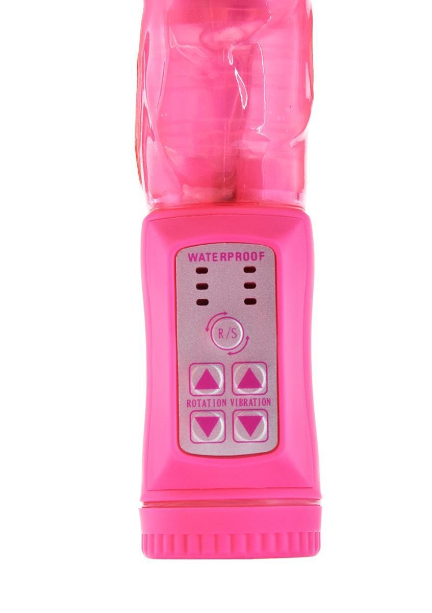 Розовый вибратор PLOWBOY ROTATING VIBRATOR - 22 см.