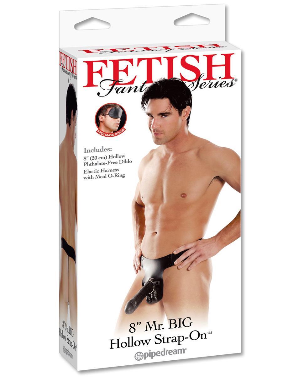 Полый мужской страпон «Mr. Big Hollow Strap-on» (20,3 см)