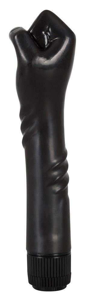 Чёрный вибратор-рука для фистинга The Black Fist Vibrator - 24 см.