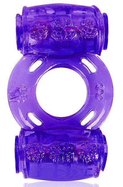 Фиолетовое эрекционное кольцо в двумя вибропулями