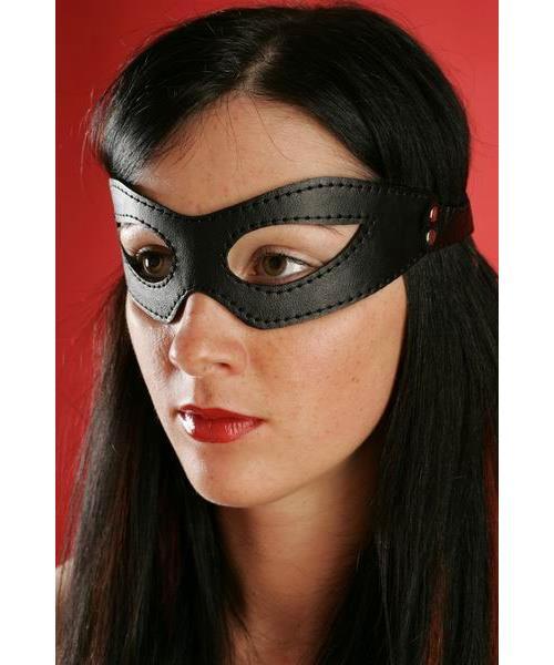 Черные кожаные очки ручной работы