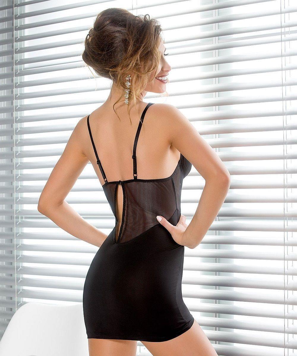 Облегающая сорочка Sissey с V-образной полупрозрачной вставкой на животике