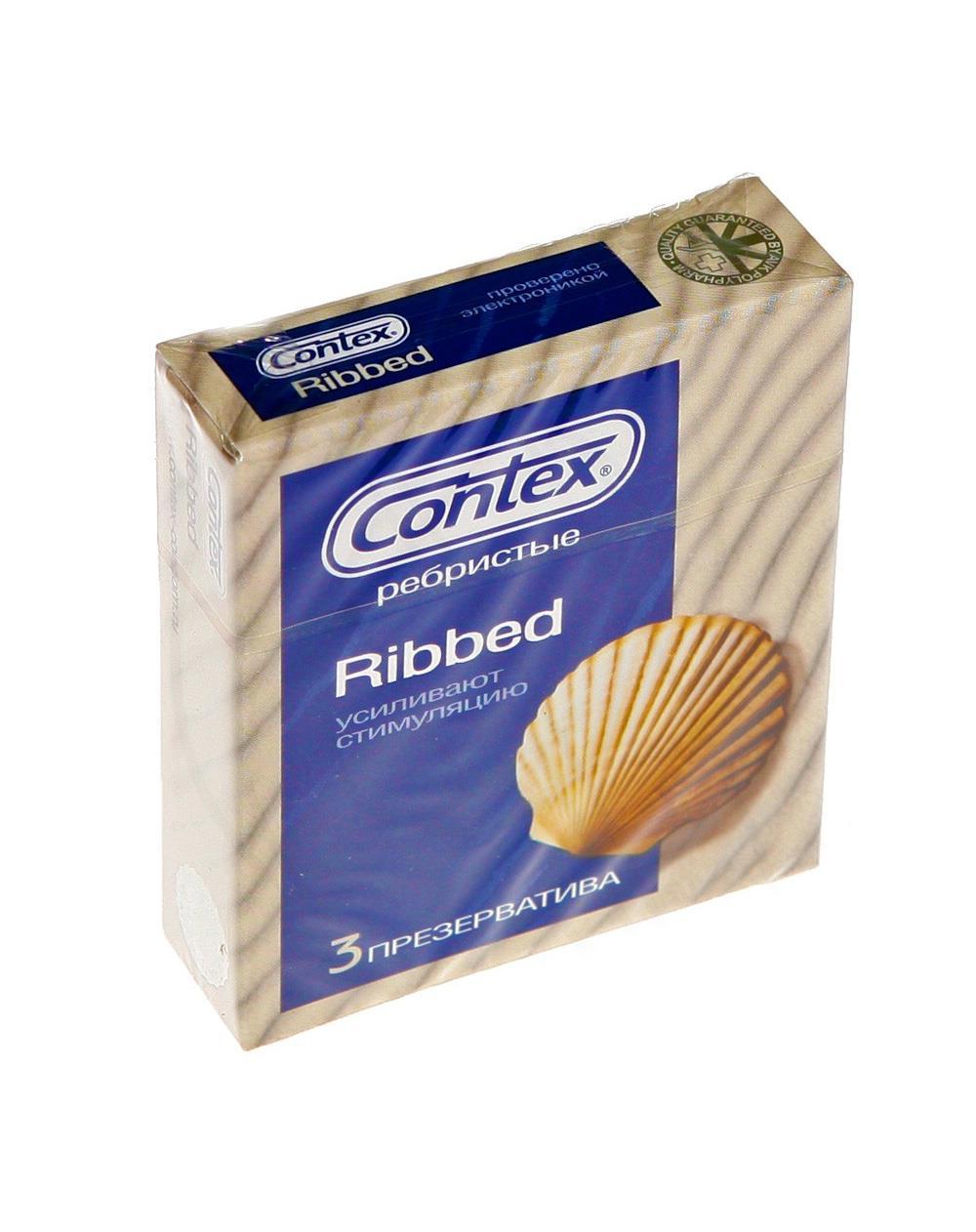Презервативы ребристые CONTEX Ribbed (3 шт)